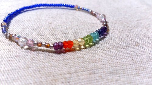 crystal in dearsharka || colorful crystal x white crystal. Curved rainbow clouds on