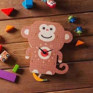 modern moose-3D clock-monkey pendulum clock