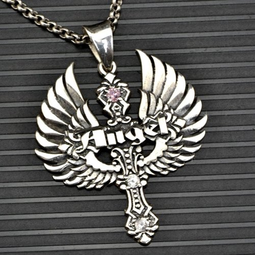 Wings Customized .925 sterling silver jewelry PS00024- Angel Pendant + character frame