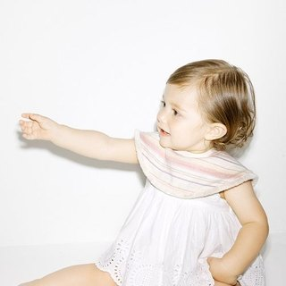 Japan MARLMARL-Japan organic cotton bib (pink stripes)