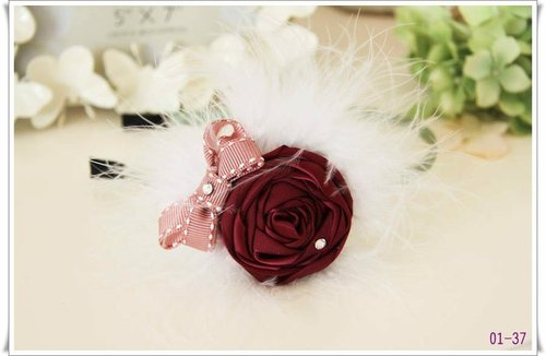 Romantic feather yarn bow hair band