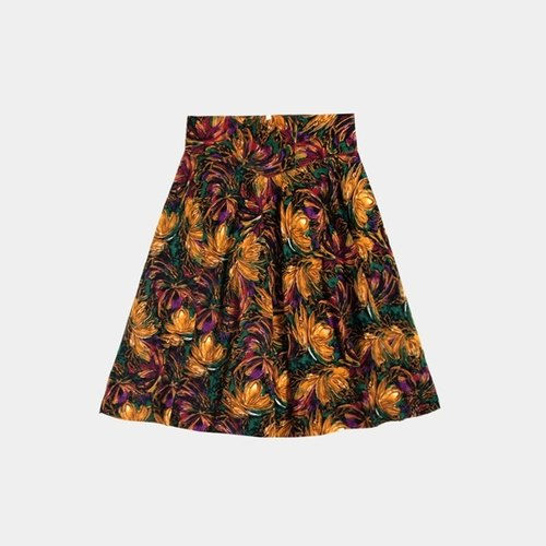 │moderato│ classical color vintage big skirt dress / Literary Forest Retro