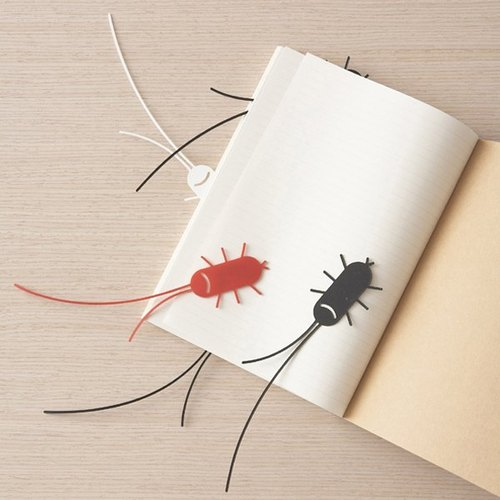 Smiling cockroach bookmark