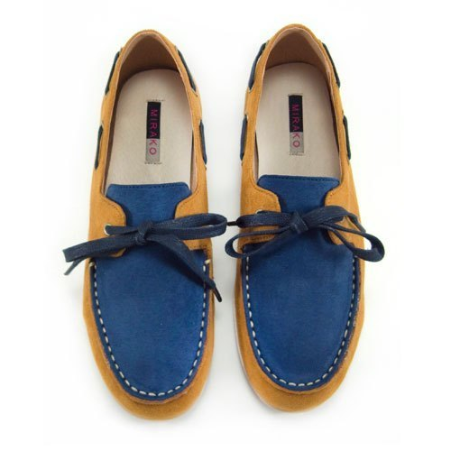 Two Tone Boat Shoes M1106A BlueLand