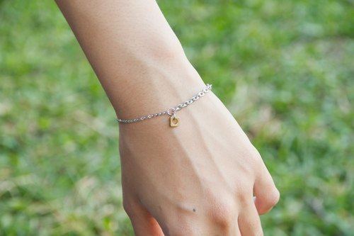 Asymmetric square bracelet / stainless steel bracelet allergy