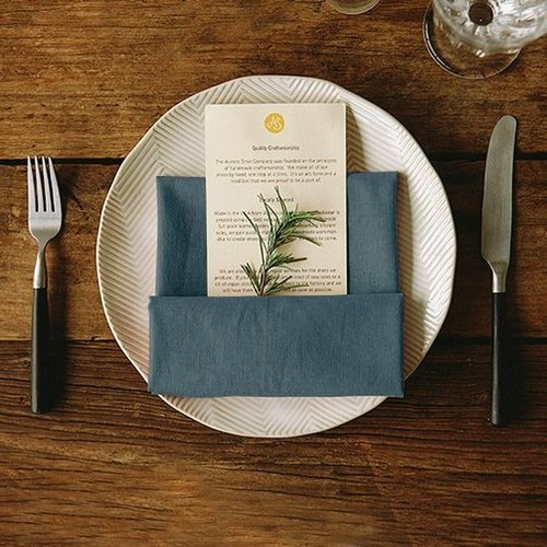 Dailylike linen flour napkin cloth wiping cloth - 16 midnight blue, E2D35475