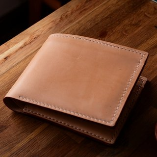 Two fold cross-section of Japanese hand-tanned leather colors leather wallet short wallet fiscal cloth can be stained