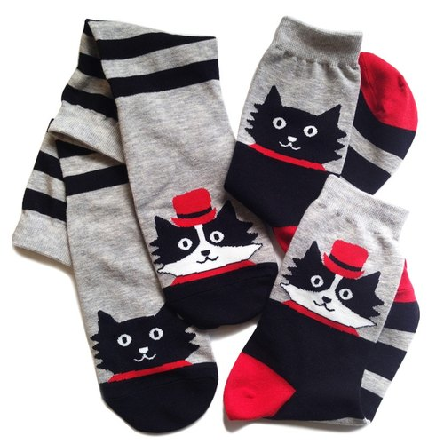 You & Me go everywhere duo socks / cats two cats look forward to see the next one pair of a pair of +