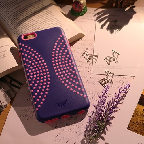 iPhone 6 / 6s Mobile Shell 4.7 inch [Dimples bloom ripples - Peach Blue Christmas Confessions]