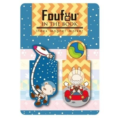 """Foufou"" Index magnet Bookmarks - Space Adventure"