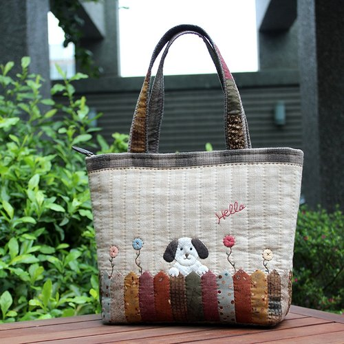 ❖ Naughty Dog Patchwork handbag - Hand bag as material ❖