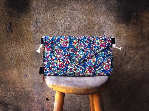 [Clutch / Shoulder Bag / envelope bag Dream Bag- amoeba flowers]