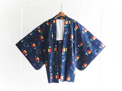 River Hill - gorgeous little weekend playful painted antique Japanese kimono jacket feather woven vintage