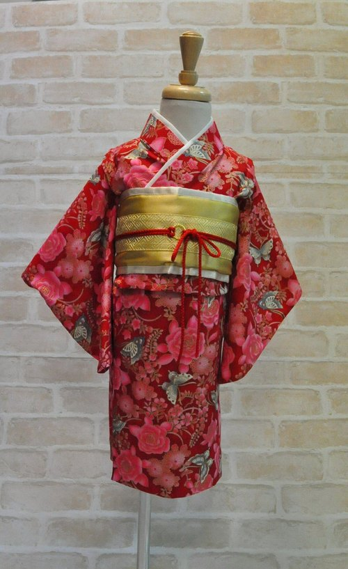 Angel Nina hand kimono for kids birthday party cosplay red EDITION