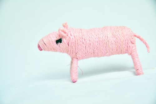 Mini pink pig animal _ _ fair trade