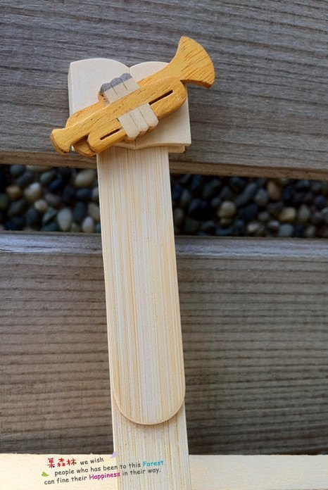 Wood instruments Bookmarks - trumpet