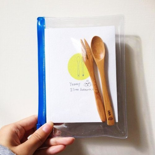 Mini-Notebook + Bamboo tableware [ LOVE DESSERT plus ]