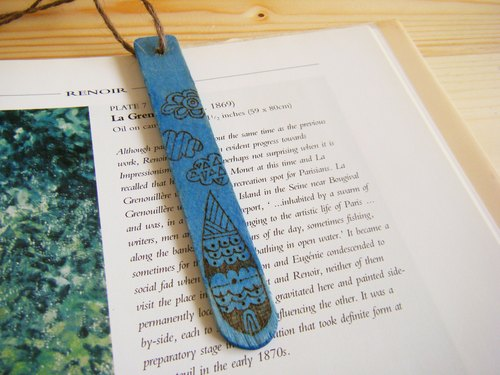 Word ink pause Bookmarks - water