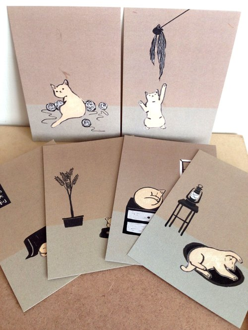 Postcards - six kits