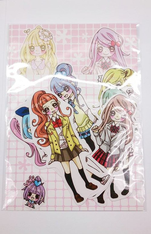 Uniforms Girl Sticker 8 into the bag