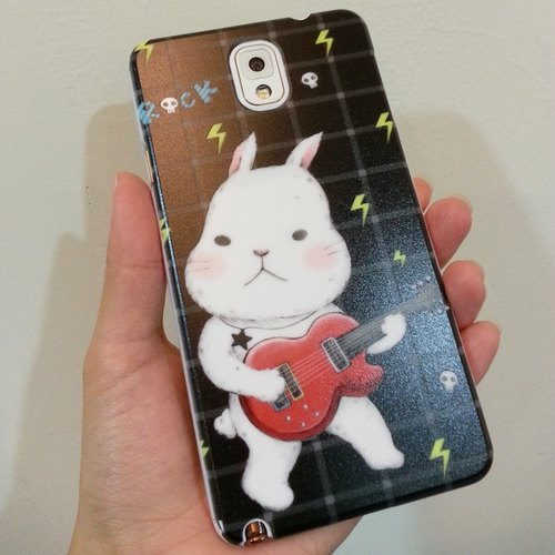 Custom ► i5 / 5s / i6 / 6s Plus Phone Case (white rim monocoque) - ROCK love rabbits