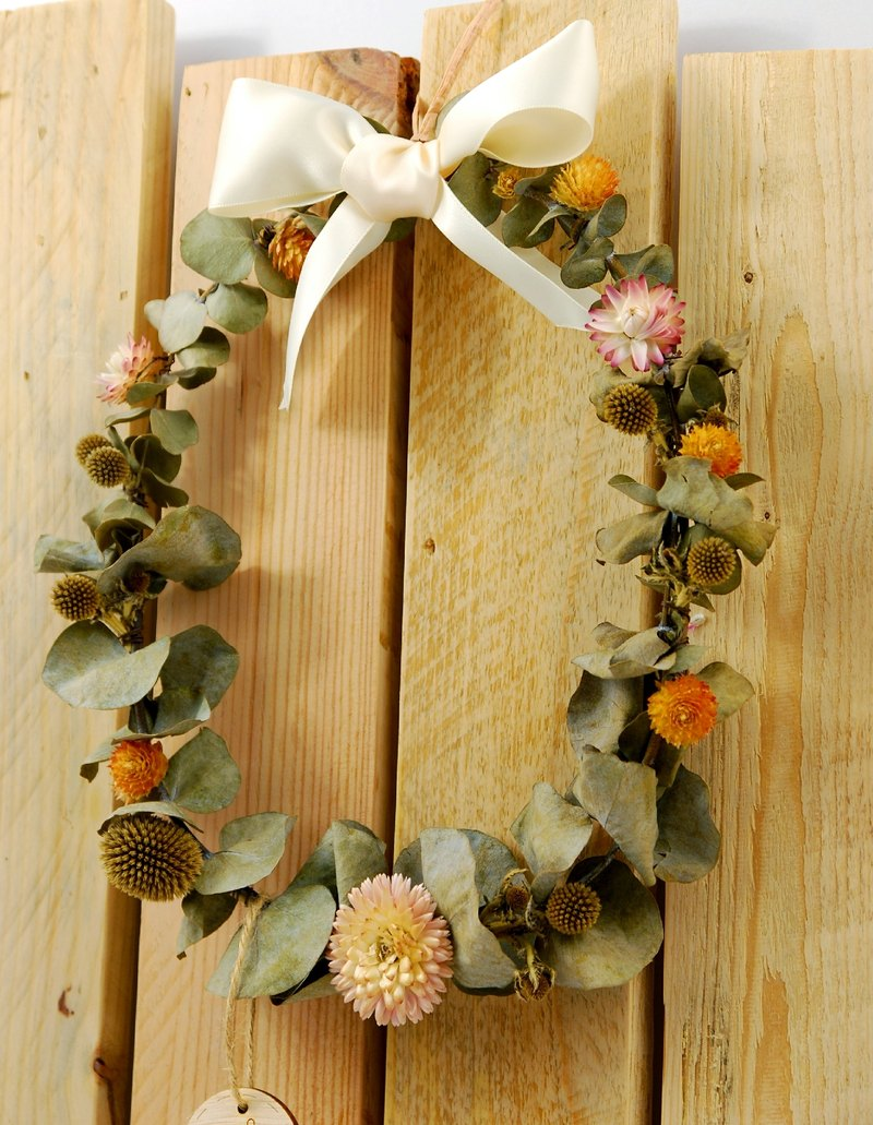 Summer Fun - All hand-made dried eucalyptus wreath (large)