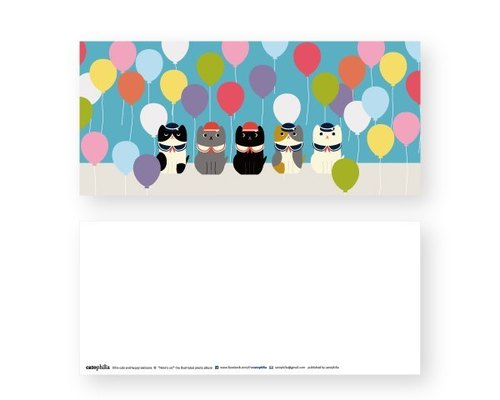 hime's cats my cat postcard Happy Balloons