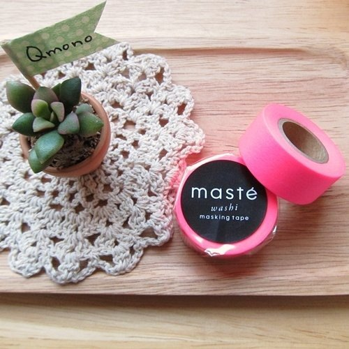 maste Masking Tape and paper tape Basic department of the brightest fluorescent fluorescent magenta (MST-MKT07-FPK)]