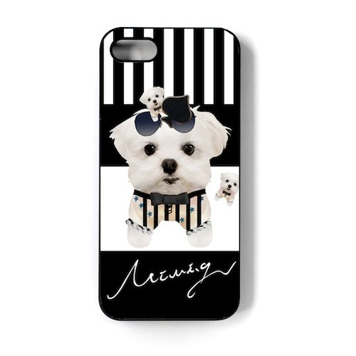 {Dog dog park} Maltese Iphone7 / 7P6 / 6P / 6s / 6Ps / 5 / 5s / 4 / 4s phone shell. Maltese. I am the most fashionable dog niu