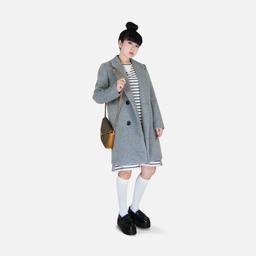 A‧PRANK: DOLLY :: VINTAGE retro with light gray wool suit coat jacket