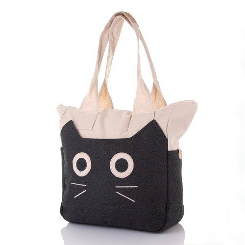[BEAR BOY] curious kitty shoulder bag - black
