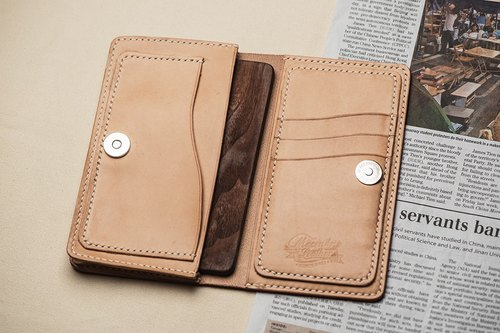 Natural Vegetable Tanned Custom Leather iPhone Case / iPhone 6  Plus Only / Free Color Selection / Handmade