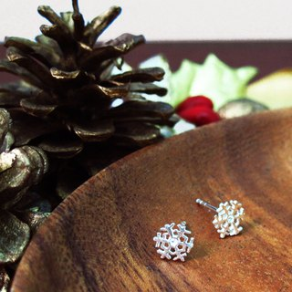 Frozen 925 Silver Snowflake Earrings Christmas Gifts - 64DESIGN Silverware