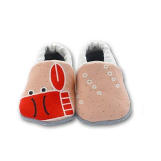 [Europe] crab spit bubbles First baby shoes handmade soft-soled toddler shoes / indoor shoes
