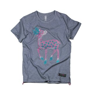 SAMA'PATTIBHYA'M Deer Cotton T-Shirt Blue