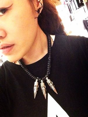 Taiwan's original Double M atomic bomb telephone coil necklace