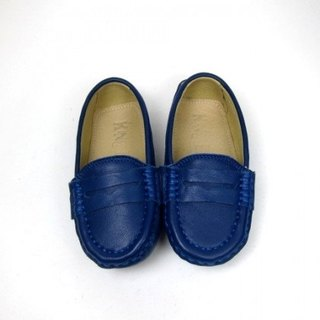 Fort Tony Wang leather handmade shoes kids [sheep / bean bottom / color blue] ★ ★ Recommended section of Alexandria