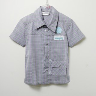 Plaid short sleeve shirt casual pace