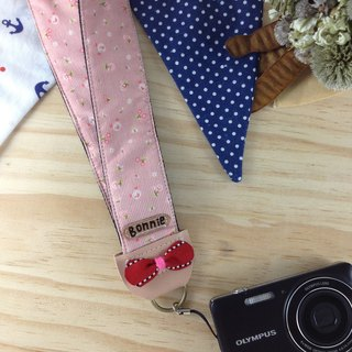 Hand-made monocular Class monocular, camera strap, cell phone strap. Straps documents --- bow section (Valentine's Day free customized name)
