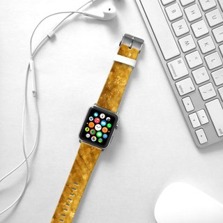 Apple Watch Series 1 , Series 2, Series 3 - Abstract Art Glitter Gold Watch Strap Band for Apple Watch / Apple Watch Sport - 38 mm / 42 mm avilable