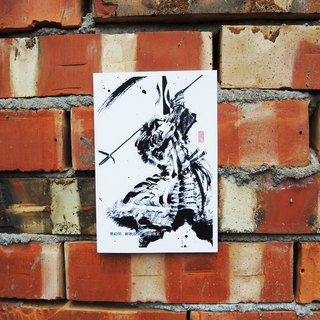 [Sumi-e warrior post card] - Kiyomasa Kato