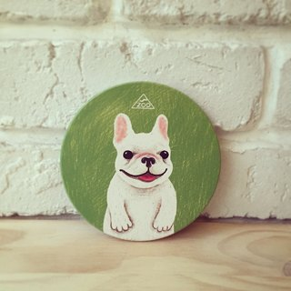 Zhuangzhuang little French bulldog water coasters / coaster Yingge Ceramics