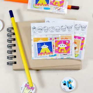 Write a letter to myself: big stamp sticker