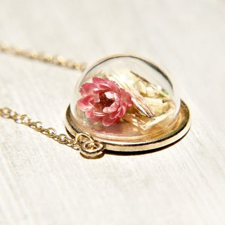 / Forest Department / French glass and dried flower bracelet bracelet - Romantic flowers