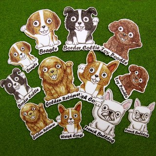 Color pencil painted Lucky Dog baby doll series waterproof stickers 12 into