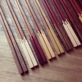[Original. Wood] good color two-color chopsticks (1 pair)