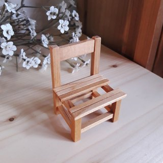 [Original.] Cypress wood chairs _ a small music business card holder
