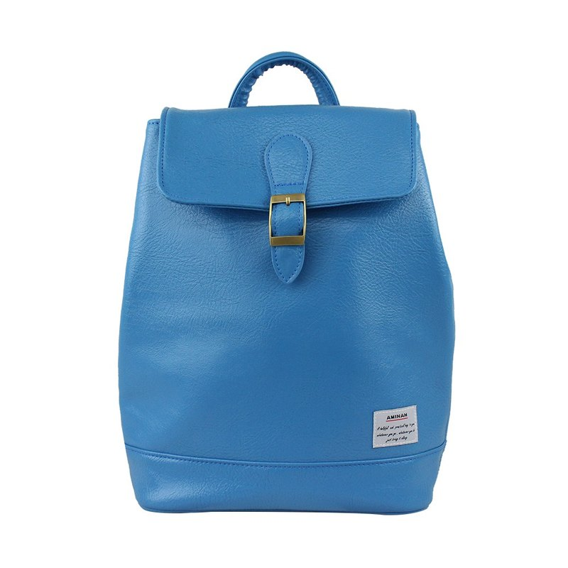 AMINAH-藍色童話小後背包【am-0223】