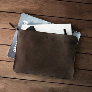 Labrador leather file bag