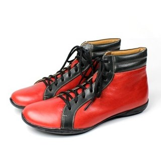 Red and black barrel INDOOR casual shoes